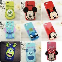 Clearance For iPhone 4 4S 5 5C SE 3D Cute Cartoon Soft Silicone Phone Case Cover