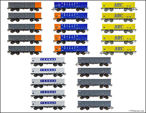 Accurascale PTA/JTA+JUA Bogie Tippler Wagon Packs!, Variants available, OO Gauge