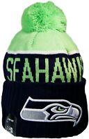 Seattle Seahawks Beanie Knit Hat New Era Cap Gear Womens Mens Apparel