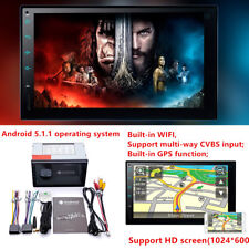 7''Android 5.1 4G WiFi Double 2Din Car Radio Stereo GPS Multimedia Player Device