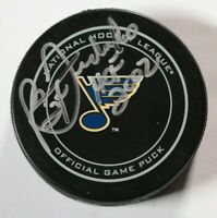 St. Louis Blues Bernie Federko Signed Autographed Game Puck Auto NHL Hockey