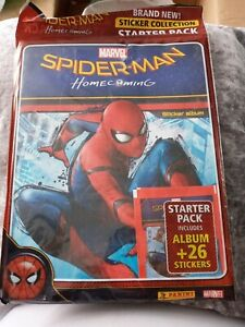 Panini SPIDERMAN HOMECOMING starter pack album plus 26 stickers