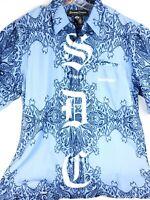 SNOOP DOGG CLOTHING COMPANY Blue Button Down Shirt Mens Size XL