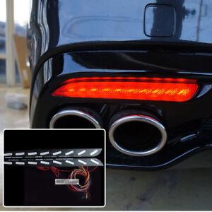 Rear Bumper Reflector 3Way Turn Signal LED Module Set for KIA 2017-2020 Stinger
