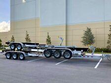 New Aluminum Boat Trailer Triple Torsion Axles for 26-28Ft Boats