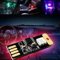 Mini USB Colorful LED Car Interior Light Voice Control Atmosphere Ambient Lamps