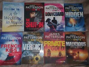 8 x JAMES PATTERSON BOOKSHOTS
