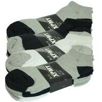 2 Tones 3-12 Pairs Mens Ankle Quarter Crew Sports Socks Casual Cotton Size 9-11
