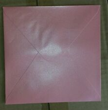 x50 Square Light Baby Pink Metallic Shimmering  Envelopes - Great 4 Invitations