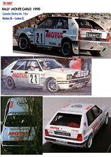 DECALS 1/43 LANCIA DELTA 16V BALAS RALLY DI MONTE CARLO 1990