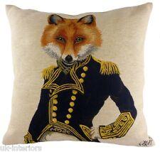 "18"" FOXY Admiral Belgian Tapestry Cushion Evans Lichfield LC559 Fox"