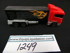 PEZ Red Cab on Black trailer with Flames Rigs Truck Loose