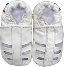 carozoo new soft sole leather toddler sandals white 2-3y