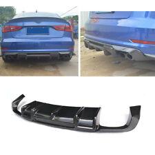 For Audi A3 Sline S3 Sedan 13-16 Rear Bumper Diffuser Lip Body Kit Carbon Fiber