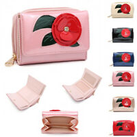 Ladies Patent 3D Flower Purse Girls Floral Purse Wallet Clutch Handbag M095-368