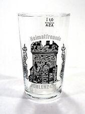 Barware Small Glass German Etched Home Friends Heimatfreunde Koblenz-Lay