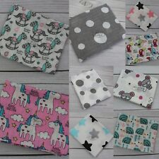 Lovely LARGE XXL Baby Super Soft Printed Muslin Square 80x70cm 100% Real Cotton