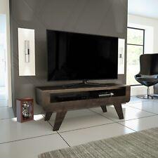 "Mahara Dark Wood Tapered Leg TV Stand - for TVs up to 60"""