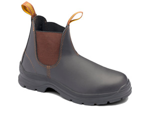 Blundstone - Mens Workwear Boot Elastic Side Non Safety Brown Leather (BL405)