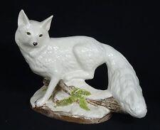 "Superb 60's Large Italian Polychrome Fox On Log Figurine ~ 16"""