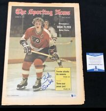 Bobby Clarke Signed Philadelphia Flyers 1973 Sporting News Magazine Beckett COA