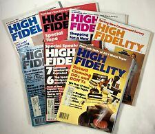 Lot of 7 High Fidelity Magazines Vintage Electronics 1980 Volume 30 Number 1 - 7