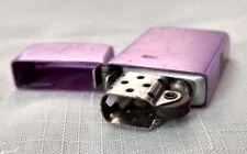 Vintage Mid Century Metal Purple Slim Style Storm King Cigarette Lighter Flip