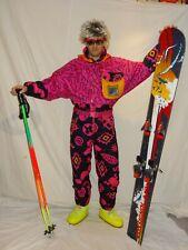 RODEO MEXICANA Retro Vintage 80's 90's Ski Suit STAG Neon Apres Ski MEDIUM
