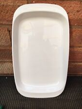 """Corning Ware 7 X 12"""" Microwave Browning Grill Plate Dish White"""