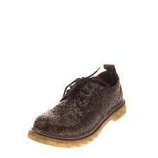 CAFENOIR Glitter Derby Shoes Size 37 UK 4 US 7 Lace Up Round Toe Pull Tab