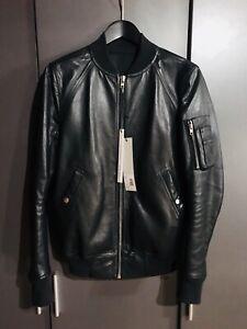 Rick Owens LCW Raglan Leather Bomber Jacket - 50 -