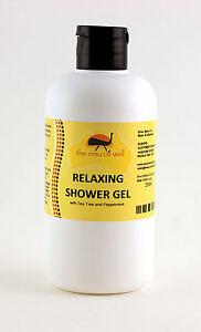 Natural Shower Gel with Emu Oil Relaxing Cleanser Moisturising Mild Safe 250ml
