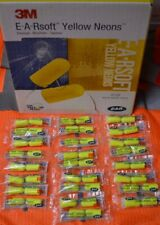 3m E A Rsoft Ear Plugs 25 Pack Noise Reduction 33db Neon Yellow Regular Earsoft