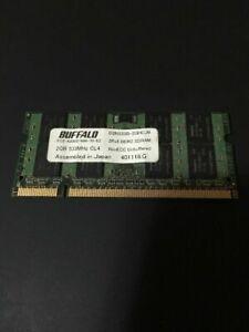 Buffalo 2 GB 533 MHz PC2-4200S 200PIN LAPTOP / NOTEBOOK NON-ECC CL4 1,8 V Memori
