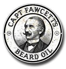 CAPTIN FAWCETTS BEARD OIL METAL SIGN, HAIR,GROOMING,BARBER SHOP, TATTOO,RETRO