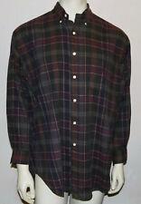 Polo Ralph Lauren cotton flannel plaid shirt L worn