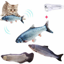 Pet Cat Electric Realistic Wagging Fish Simulation Interactive Plush Toys Gifts