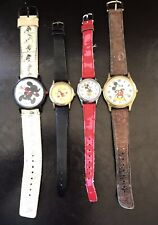 Lot of 4 Vintage MICKEY & MINNIE MOUSE WATCHES Disney