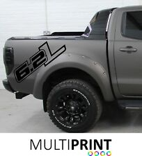 2 x  FORD RANGER RAPTOR 6.2L TRUCK CAR VINYL STICKERS / DECALS GRAPHICS RAP2