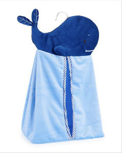 LEVTEX Baby Hanging Diaper Clothing Nursery Organizer Storage Blue Whale NEW