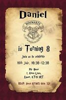 Harry Potter Personalised Party Invitations With Envelopes
