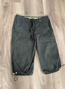 Ladies Next Summer Cropped Capri Trousers Size 12 Khaki Green