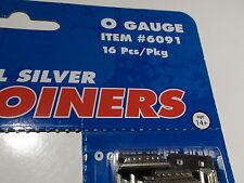 O-SCALE ATLAS #6091 RAIL JOINERS NICKEL SILVER 16 Pcs 3 RAIL BIGDISCOUNTTRAINS