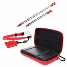 NEW Red Nintendo OLD 3DS 4 in 1 Case Pack Accessory Pack - Stylus, Case, Strap