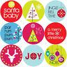 144 Bright Christmas 30mm Children's Reward Stickers for Teachers or Parents