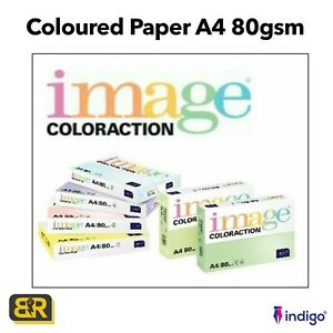 Image COLORACTION A4 80gsm Coloured Tinted Copier Copy Printer Paper 500 Sheets