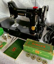 SINGER FEATHERWEIGHT 221 1936 SEWING MACHINE AE083603