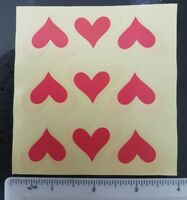 18 Heart Peel Off Craft Sticker Labels DIY, Gift, Craft, Card, Seals, Envelope