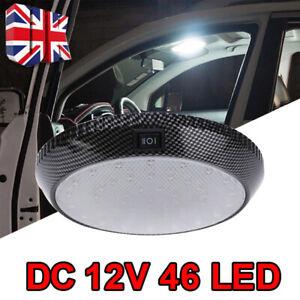 12V LED Roof Ceiling Interior Lights Camper Van Boat Caravan Doom White Lamp