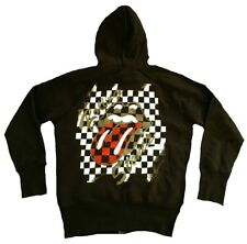 Amplified Vintage Rolling Stones Zunge Capuche Pull Rock Star Fermeture Éclair
